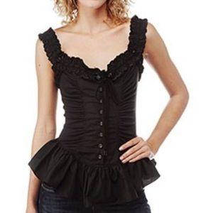Betsey Johnson corset style blouse euc. Worn once